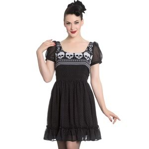 Hell Bunny Pop Soda Yule Christmas Mini Dress 4631